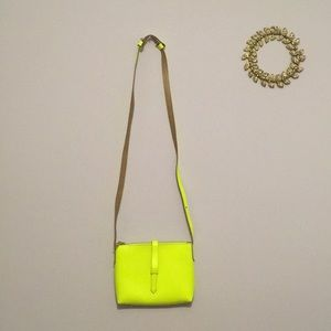 J. Crew • Highlighter yellow crossbody purse
